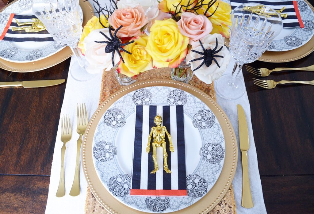 Glam Halloween Tablescape