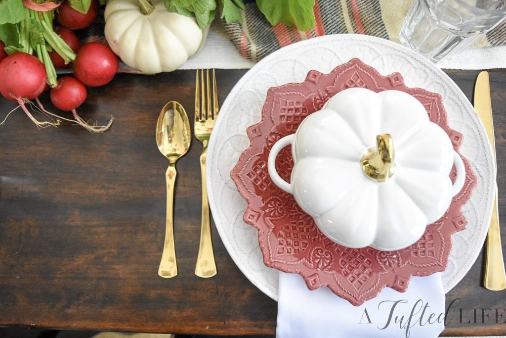 Thanksgiving harvest tablescape