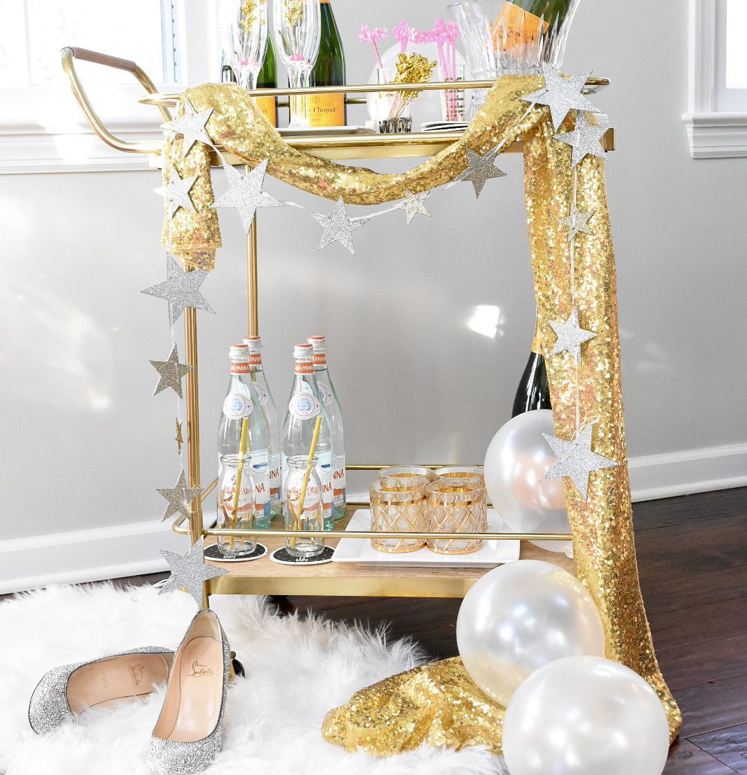 How to style the perfect New Years Bar Cart